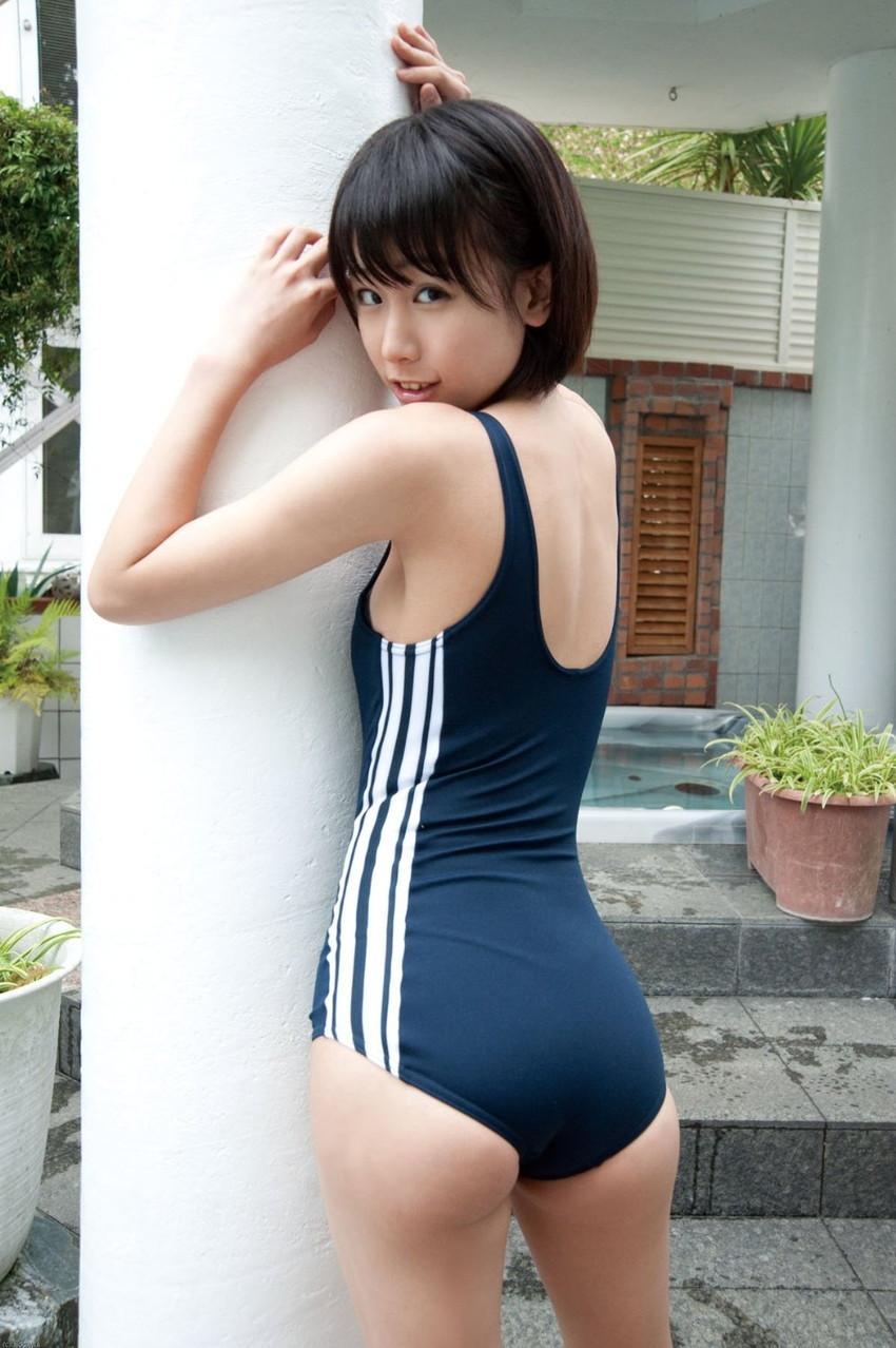 【スク水エロ画像】若かりし学生時代に抱いた劣情を思い出すスクール水着の女の子w 23