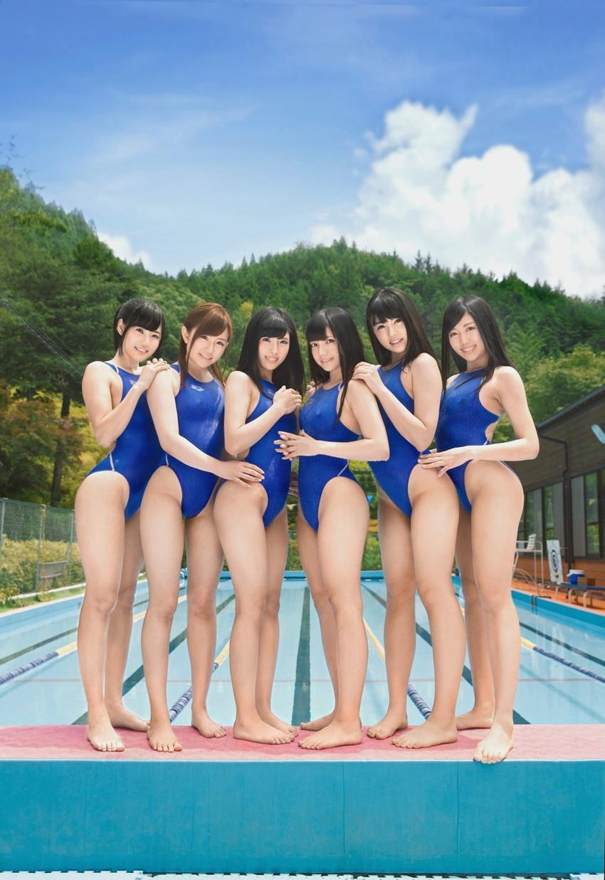 【競泳水着エロ画像】へたするとビキニよりもエロかったりする?競泳水着特集!