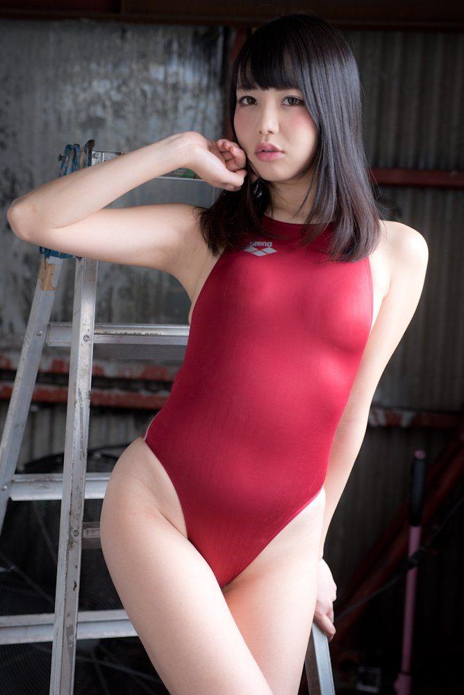 【競泳水着エロ画像】へたするとビキニよりもエロかったりする?競泳水着特集! 23