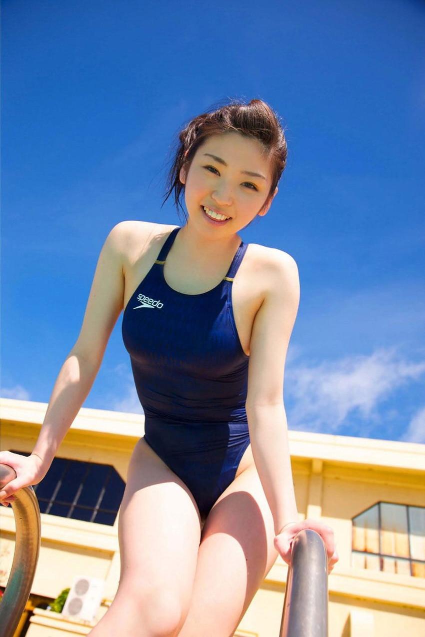 【競泳水着エロ画像】へたするとビキニよりもエロかったりする?競泳水着特集! 54