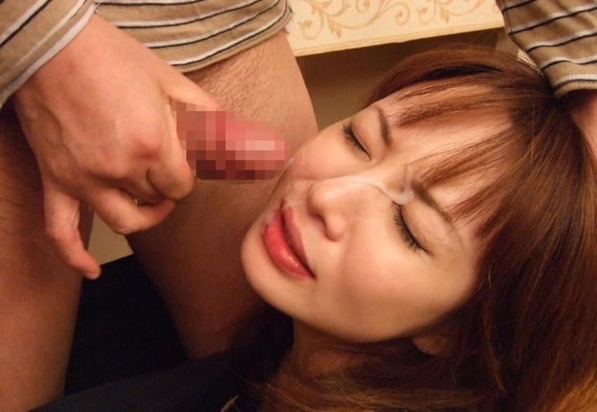 【顔射エロ画像】マニアックだけど試したい衝動も?顔射の餌食になった女の子! 44