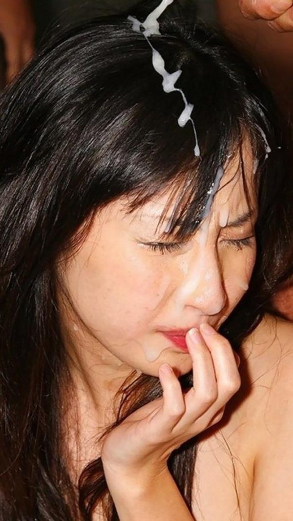 【顔射エロ画像】女の子の顔面に男の欲望まみれのザーメンを発射!wwww 07