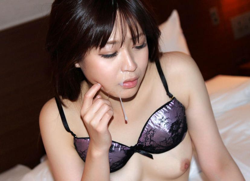 【顔射エロ画像】卑猥なフィニッシュ!顔面に精液をぶっかけられた女たち! 44