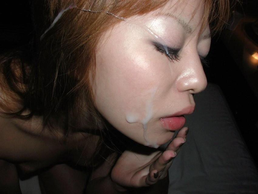 【顔射エロ画像】卑猥なフィニッシュ!顔面に精液をぶっかけられた女たち! 50