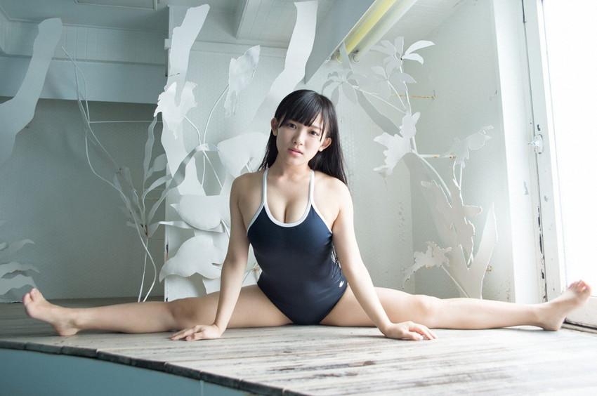 【スクール水着エロ画像】スク水姿の女の子に思わずフル勃起しちまったww 10