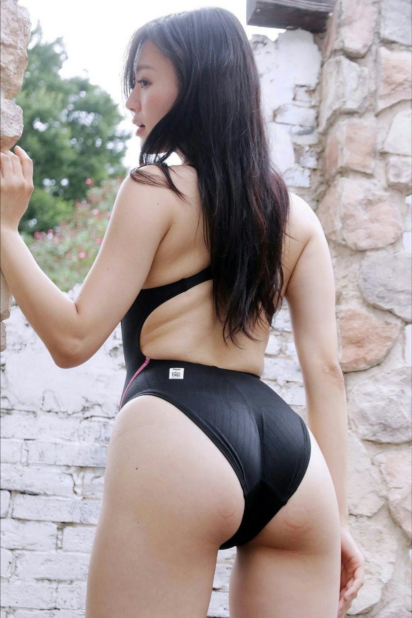【競泳水着エロ画像】なんだ、競泳水着か…と侮ることなかれ!エロ過ぎ競泳水着! 05