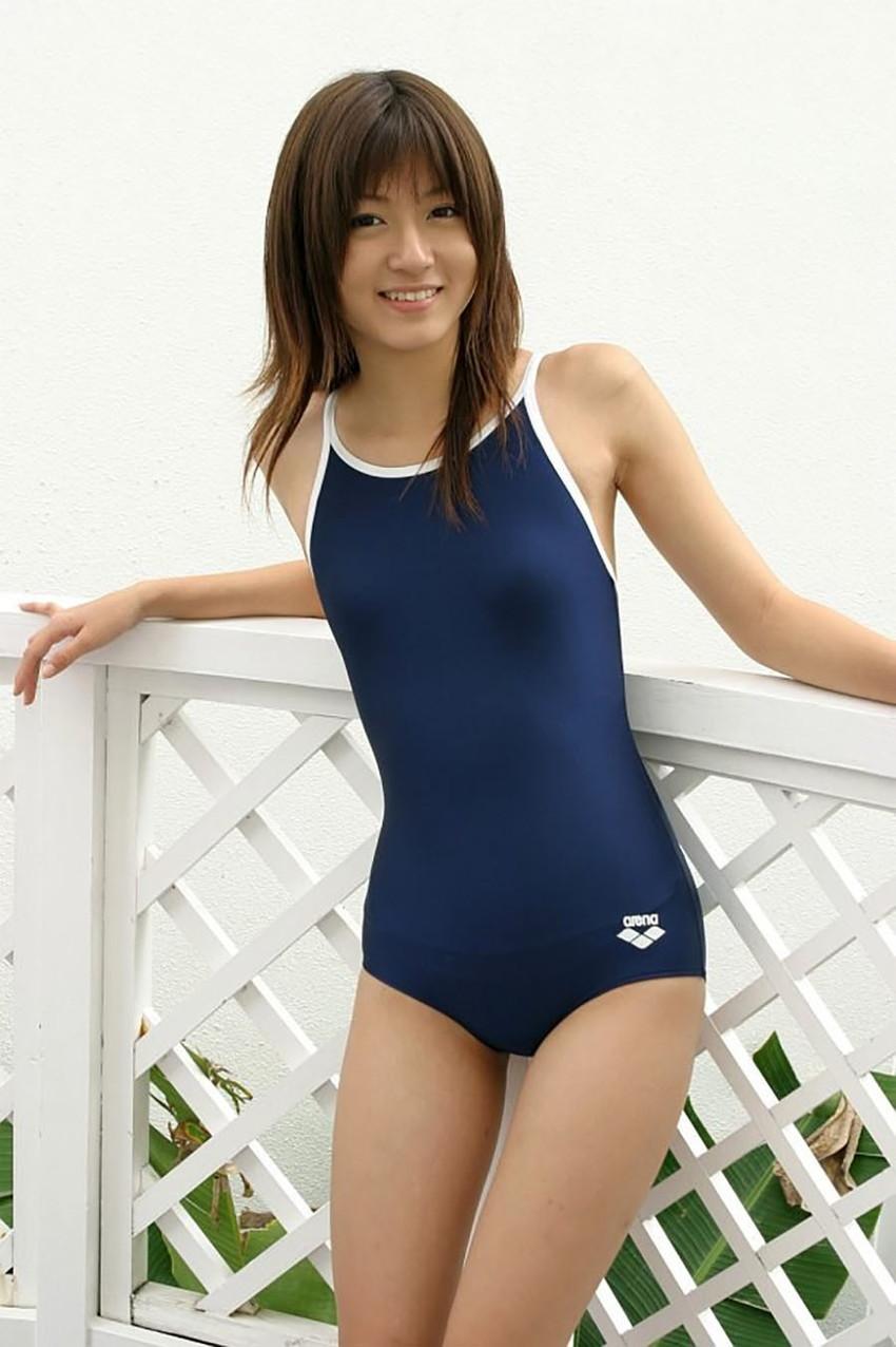 【スクール水着エロ画像】スクール水着姿の女子を見て妄想して楽しむwww 36