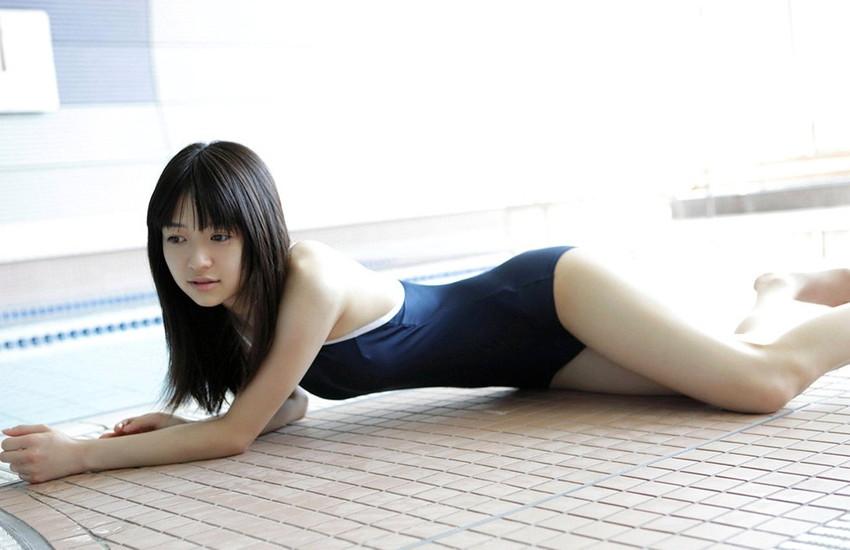 【スクール水着エロ画像】スクール水着姿の女子を見て妄想して楽しむwww 46