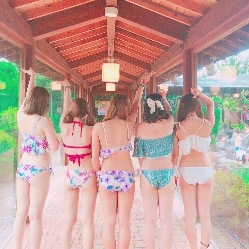 【素人水着エロ画像】素人娘たちの無防備な水着姿に思わず勃起した! 05