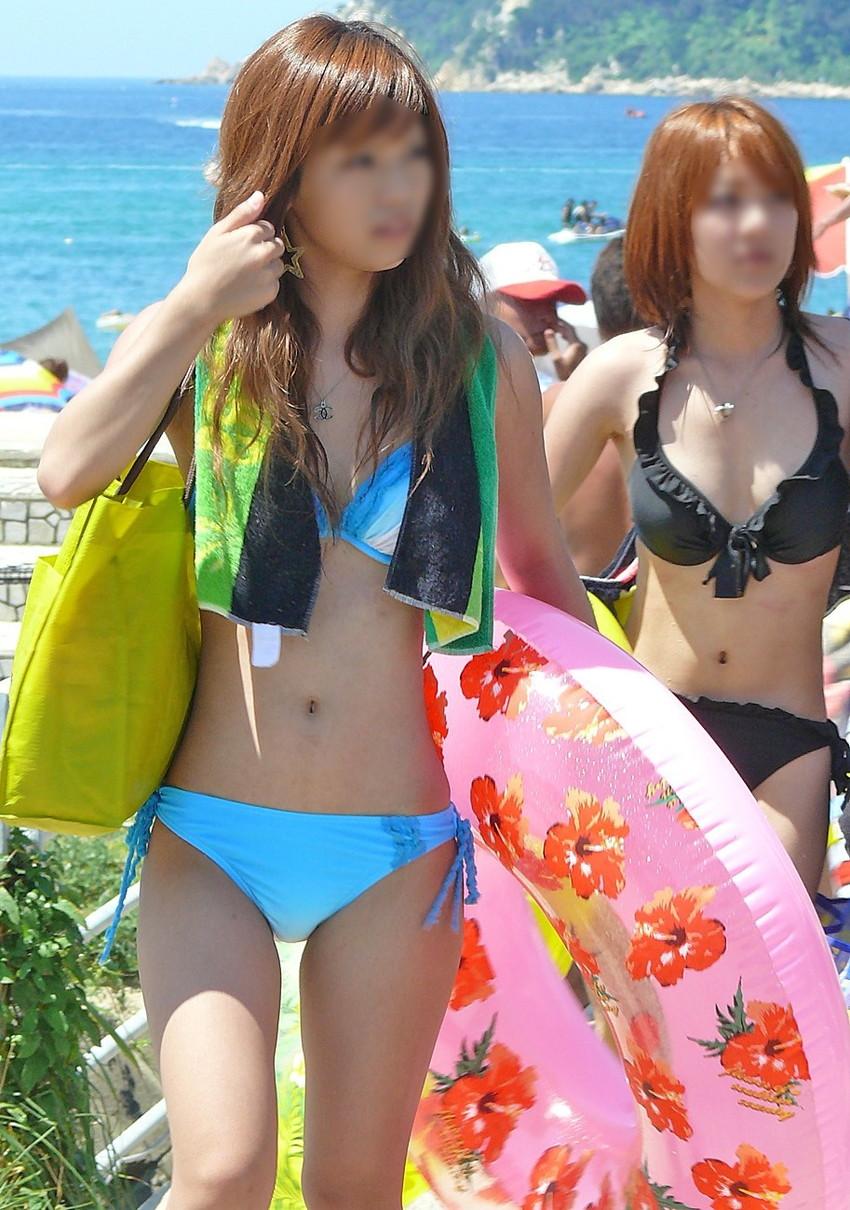 【素人水着エロ画像】素人娘たちの無防備な水着姿に思わず勃起した! 23