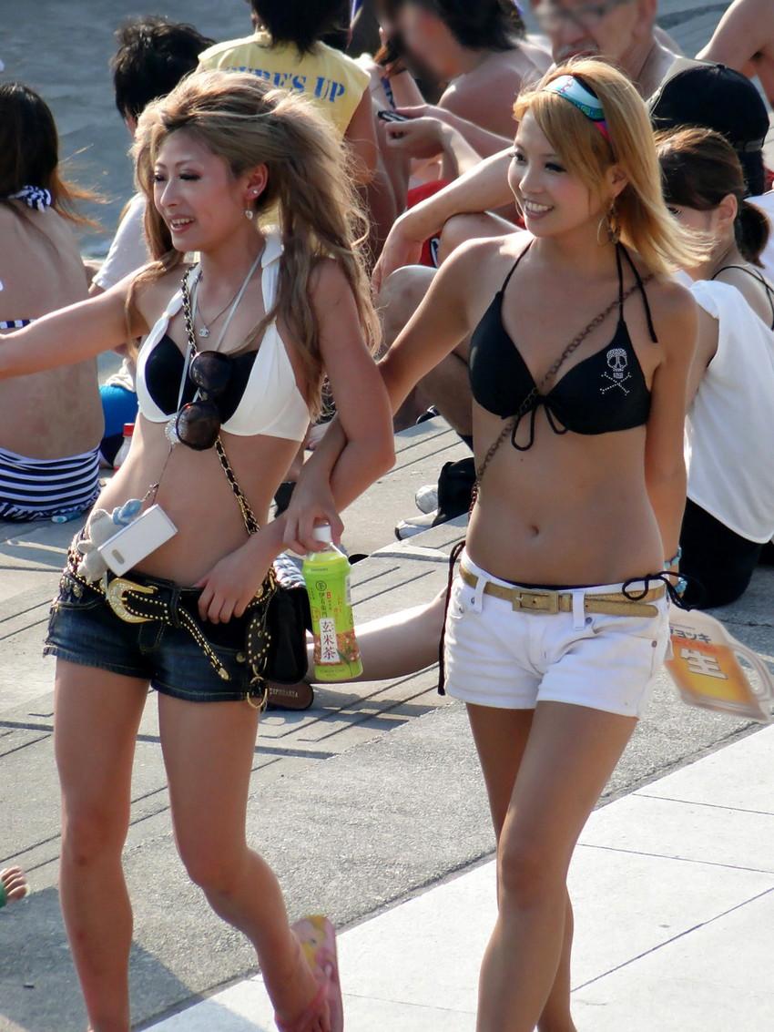 【素人水着エロ画像】素人娘たちの無防備な水着姿に思わず勃起した! 30