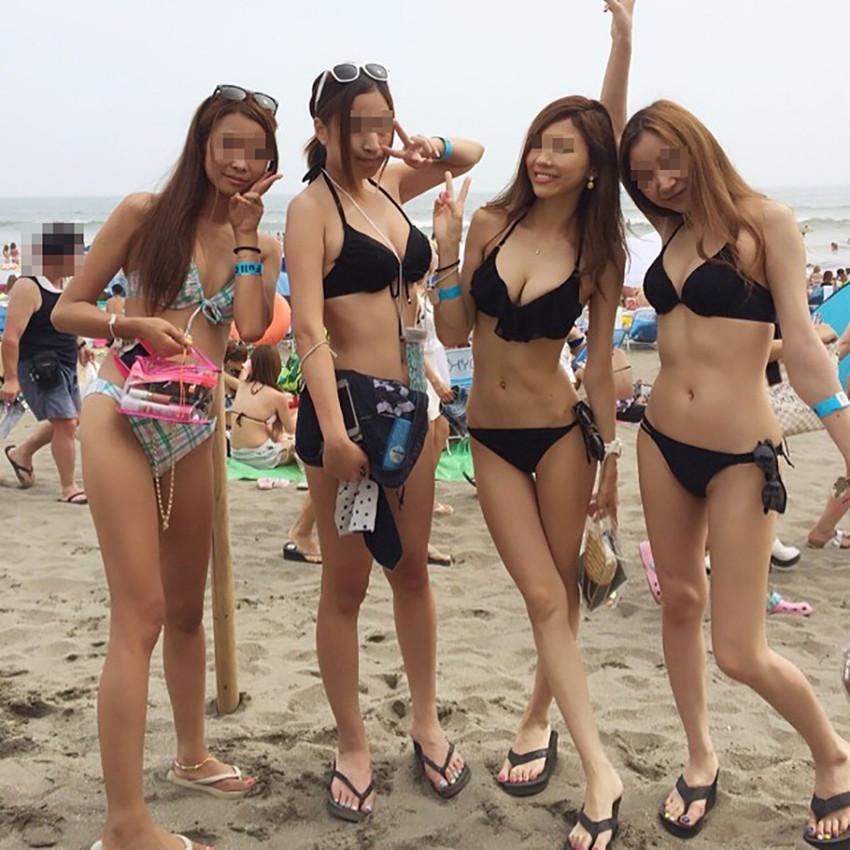 【素人水着エロ画像】素人娘たちの無防備な水着姿に思わず勃起した! 40