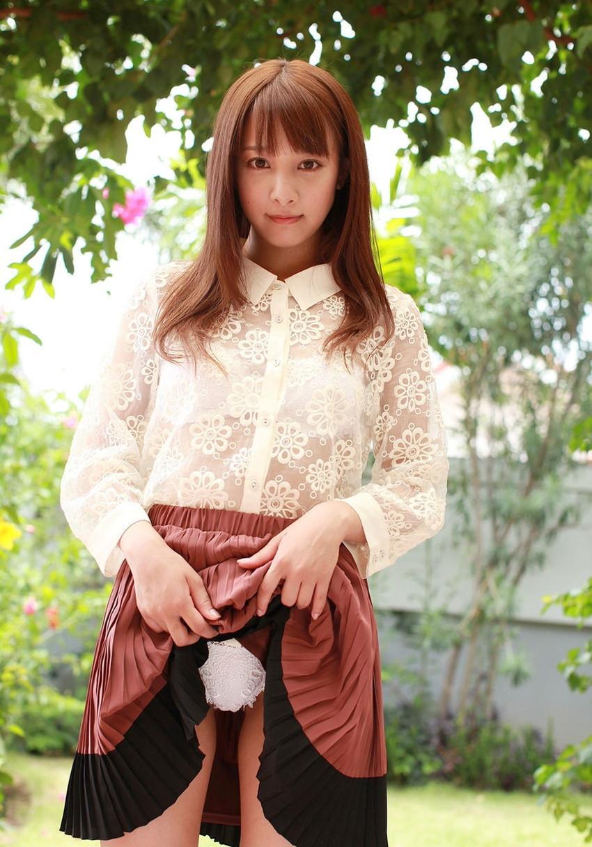 【セルフパンチラエロ画像】女の子のスカートの中身が最高にエロかったwww 30