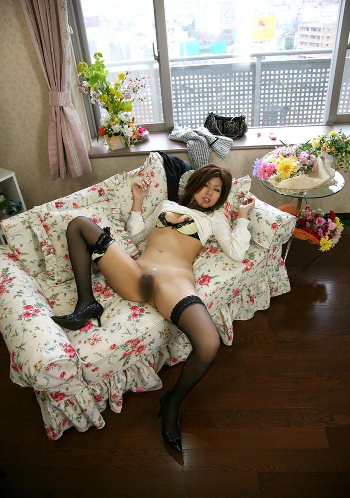 【セックス事後エロ画像】射精されたザーメンが生々しいセックスの後の証拠! 03