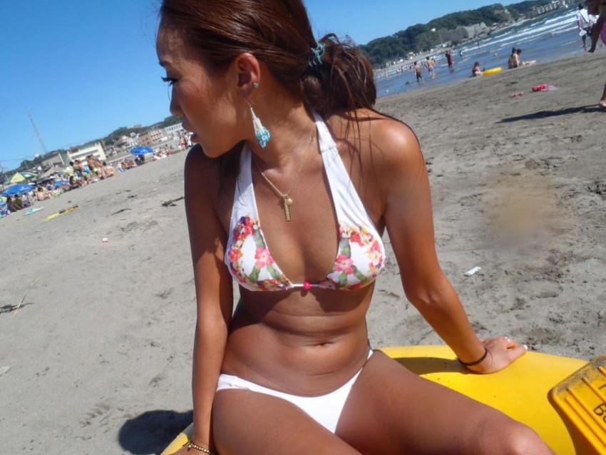 【素人水着エロ画像】夏といえば海!海といったら素人娘たちの水着だよなwwwww 34