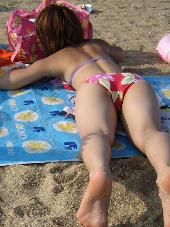 【素人水着エロ画像】夏といえば海!海といったら素人娘たちの水着だよなwwwww 43