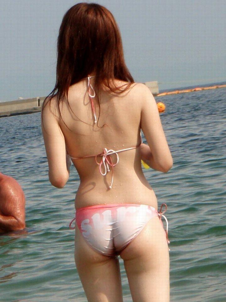 【素人水着エロ画像】夏といえば海!海といったら素人娘たちの水着だよなwwwww 49