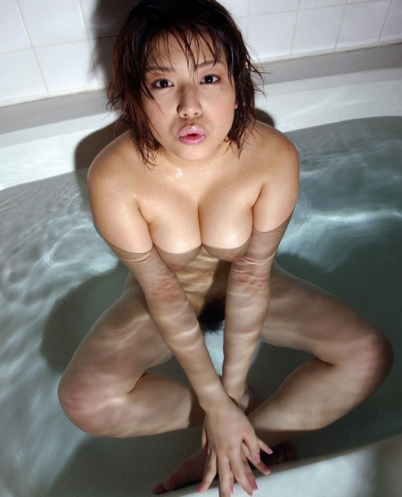 【入浴エロ画像】入浴中の女の子はオールヌード!全裸って素晴らしいwww 36