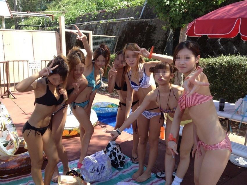 【素人水着エロ画像】素人娘たちによる生々しい水着姿のエロ画像集めたった! 13