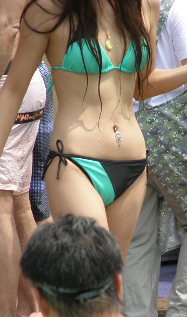 【素人水着エロ画像】素人娘たちによる生々しい水着姿のエロ画像集めたった! 19