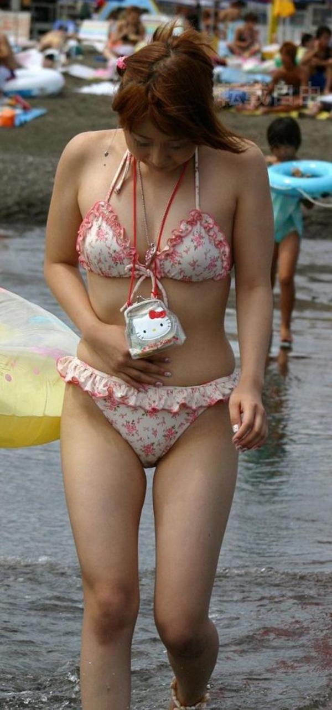 【素人水着エロ画像】素人娘たちによる生々しい水着姿のエロ画像集めたった! 35