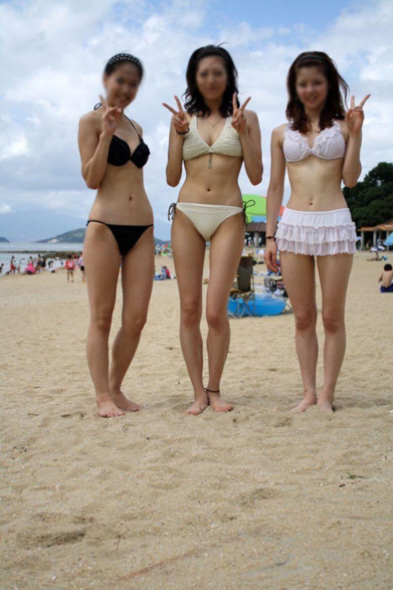【素人水着エロ画像】素人娘たちによる生々しい水着姿のエロ画像集めたった! 45