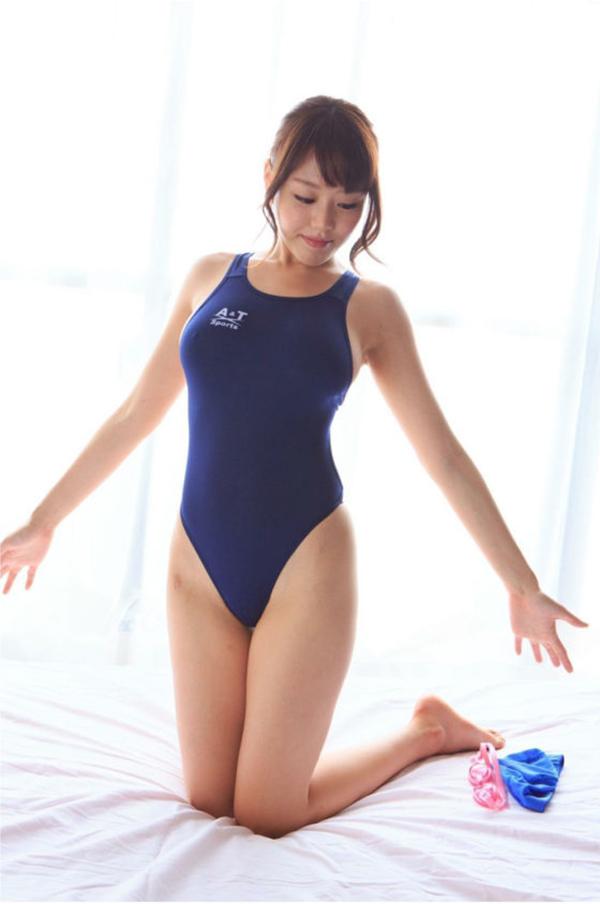 【競泳水着エロ画像】これってもしかしたビキニよりもエロい水着なのか?w 07