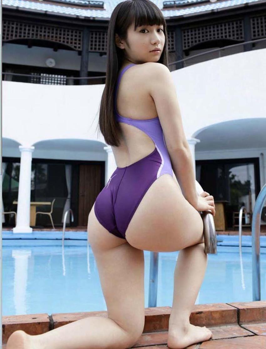 【競泳水着エロ画像】これってもしかしたビキニよりもエロい水着なのか?w 21
