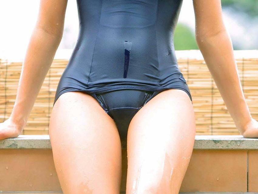 【スクール水着エロ画像】マニアックだけど見てしまうスクール水着女子! 44