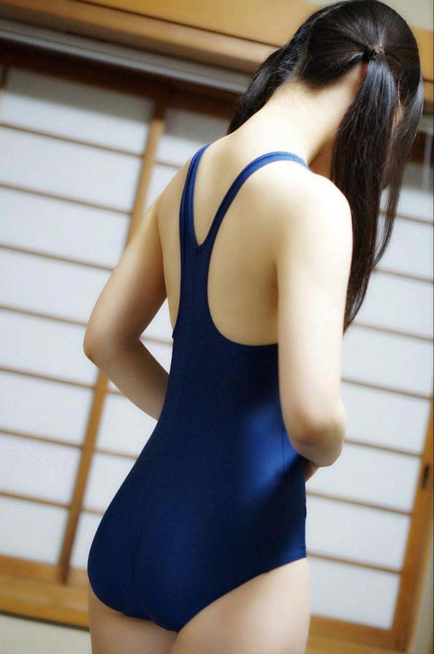 【スクール水着エロ画像】マニアックだけど見てしまうスクール水着女子! 53