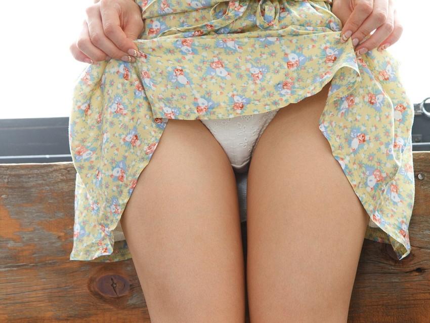 【セルフパンチラエロ画像】女の子にこんな風に誘われたら、ワイ堪らんぞ!www 81