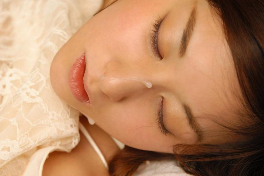 【顔射エロ画像】女の子の顔がザーメンまみれ!こりゃエロいぞwwwwwww 28