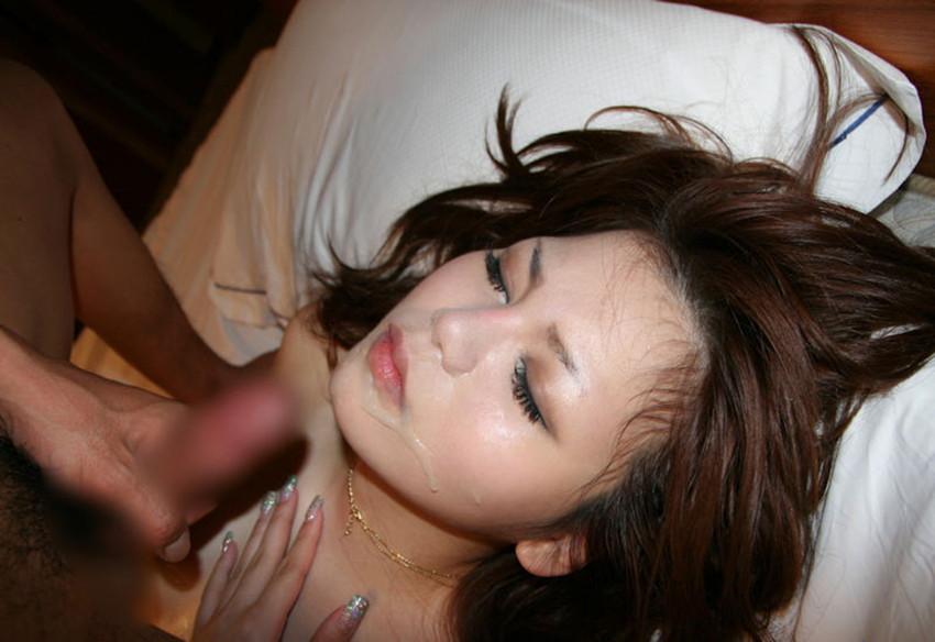 【顔射エロ画像】女の子の顔がザーメンまみれ!こりゃエロいぞwwwwwww 36