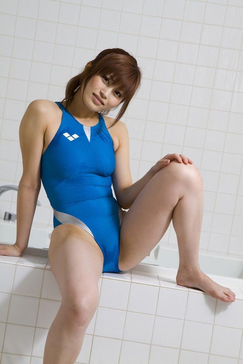 【競泳水着エロ画像】競泳用といっても侮り難いエロさ!競泳水着ってエロッ! 71