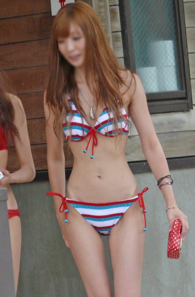 【素人水着エロ画像】台風ばかりのこの時期だけど素人娘の水着みたいやつ寄って来い! 60