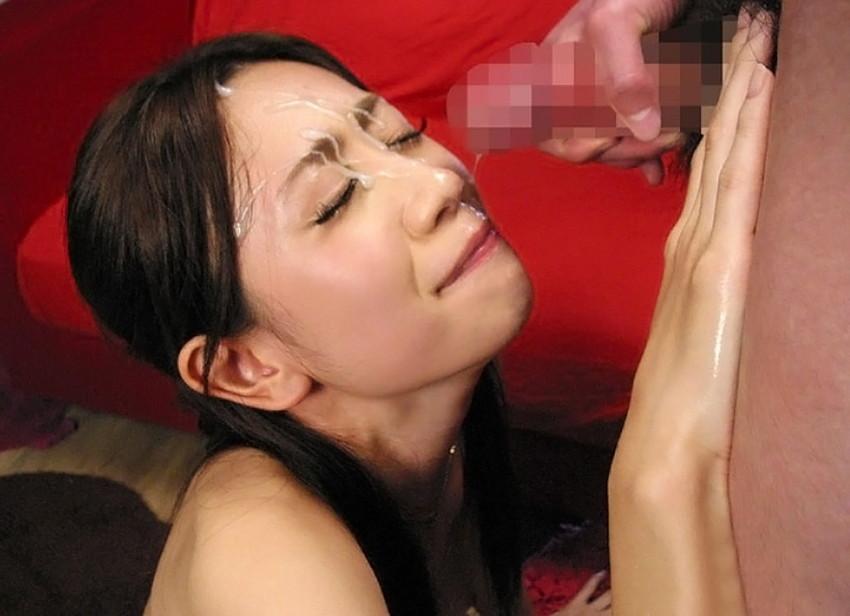 【顔射エロ画像】ちょっとだけマニアックな射精の形がこちら!wwwwwwwww 23