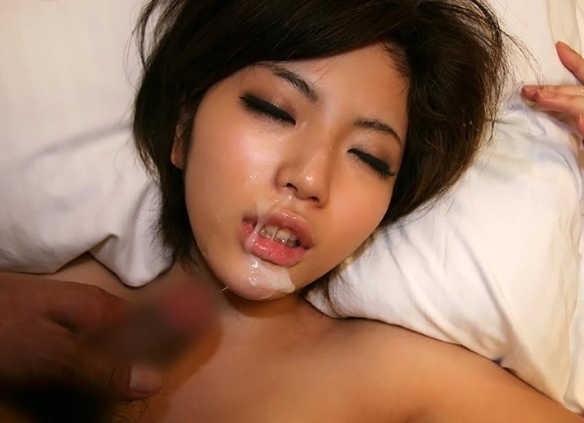 【顔射エロ画像】ちょっとだけマニアックな射精の形がこちら!wwwwwwwww 27