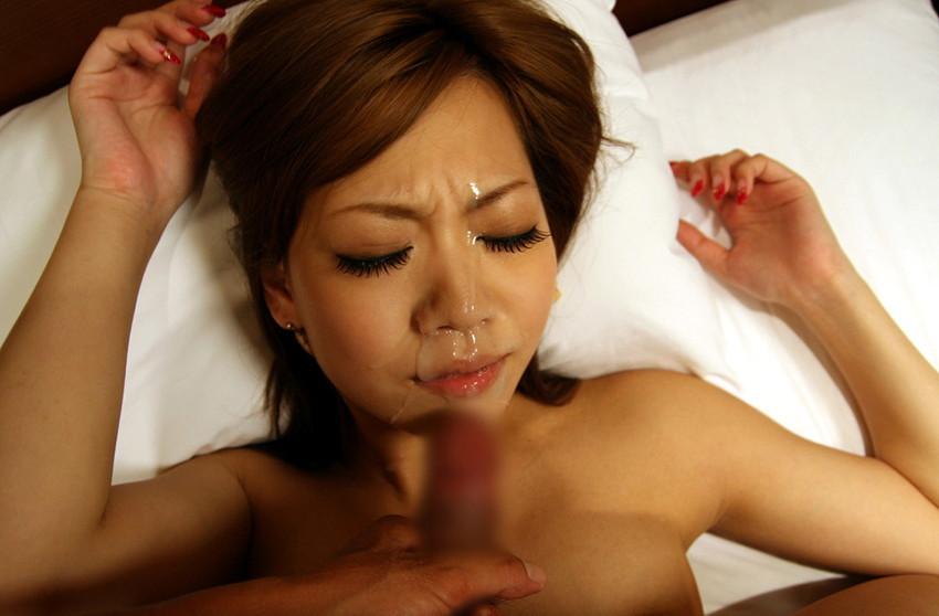 【顔射エロ画像】ちょっとだけマニアックな射精の形がこちら!wwwwwwwww 29