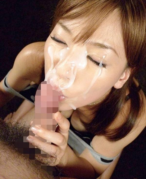 【顔射エロ画像】ちょっとだけマニアックな射精の形がこちら!wwwwwwwww 35