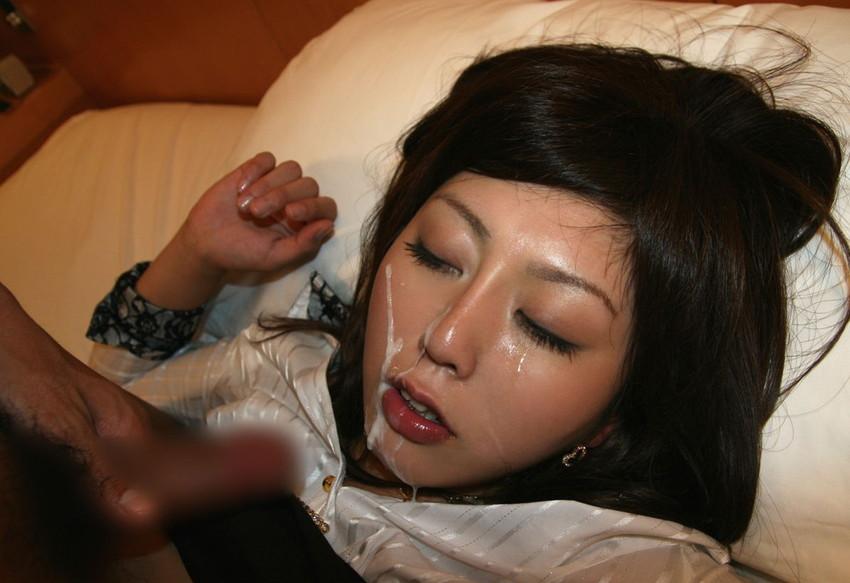【顔射エロ画像】ちょっとだけマニアックな射精の形がこちら!wwwwwwwww 52