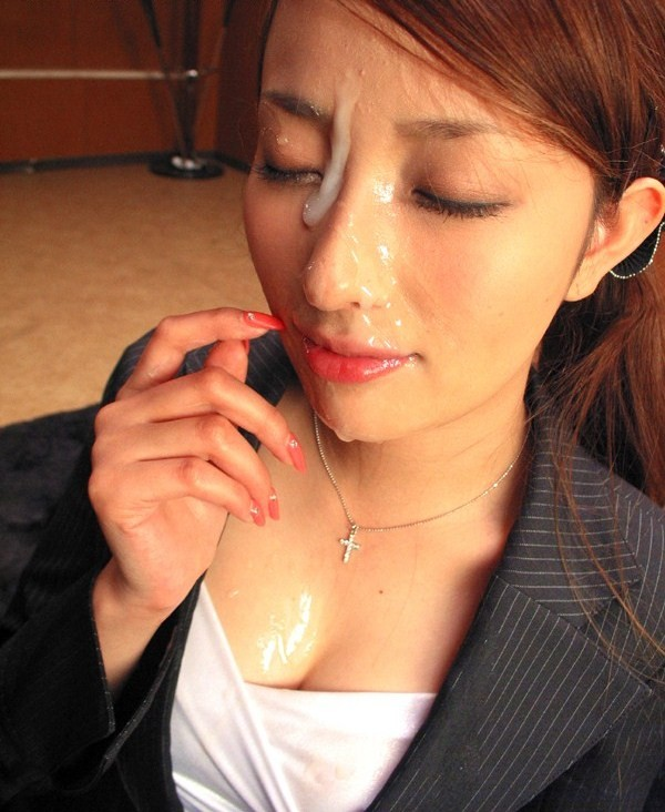 【顔射エロ画像】ちょっとだけマニアックな射精の形がこちら!wwwwwwwww 58