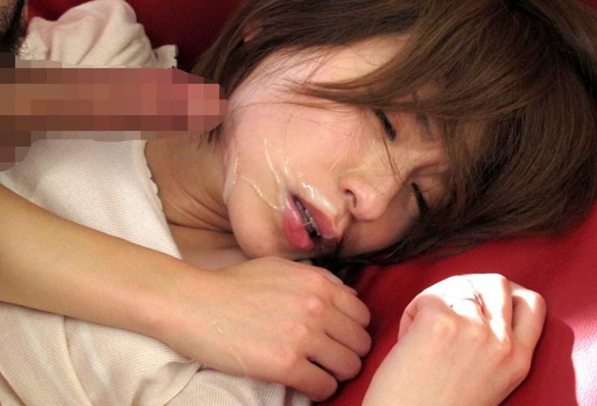 【顔射エロ画像】ちょっとだけマニアックな射精の形がこちら!wwwwwwwww 71