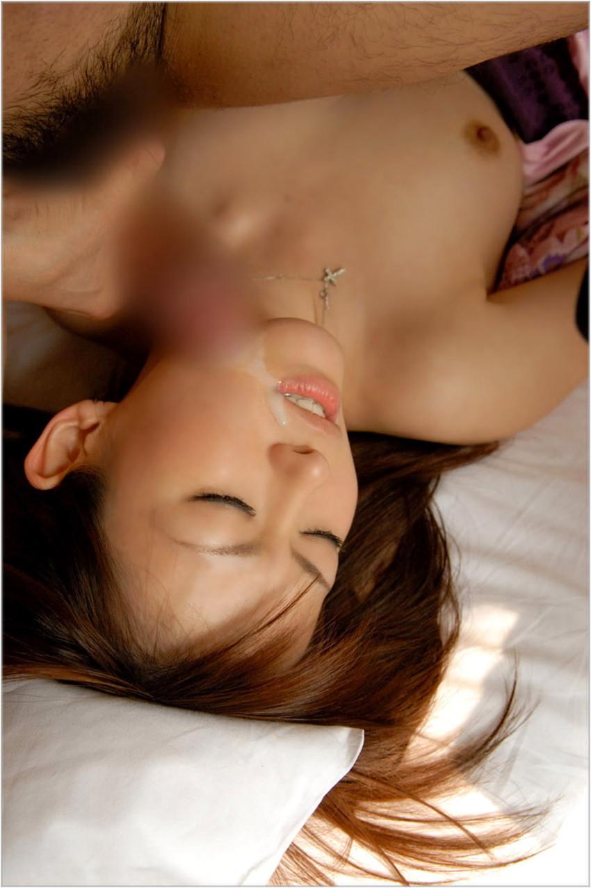 【顔射エロ画像】ちょっとだけマニアックな射精の形がこちら!wwwwwwwww 72