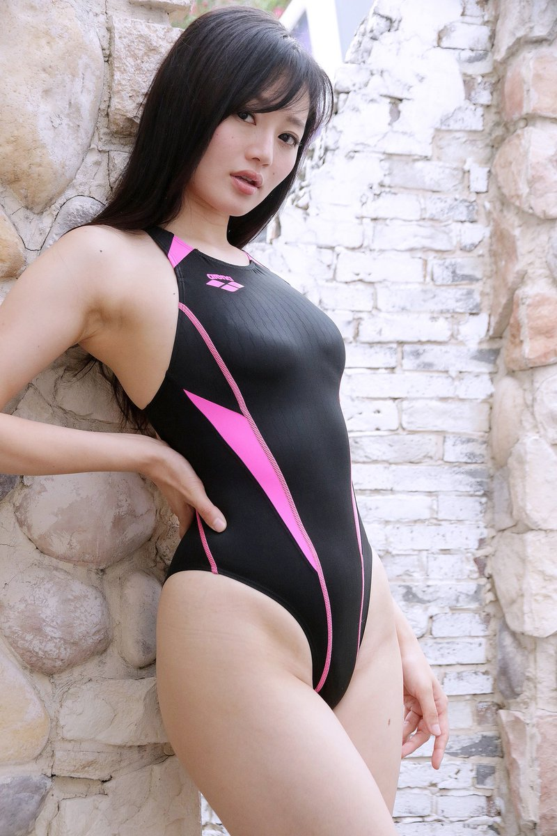 【競泳水着エロ画像】競泳用なのにこんなにエロい競泳水着着用女子におっきしたw 56