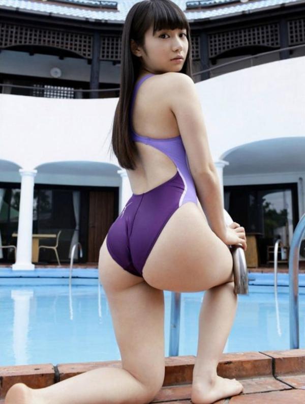 【競泳水着エロ画像】競泳用なのにこんなにエロい競泳水着着用女子におっきしたw 57