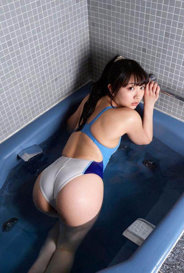 【競泳水着エロ画像】競泳用なのにこんなにエロい競泳水着着用女子におっきしたw 73