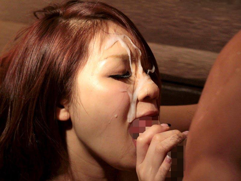 【顔射エロ画像】顔射されて顔面ザーメンまみれになった女の子の表情って好き?w 21