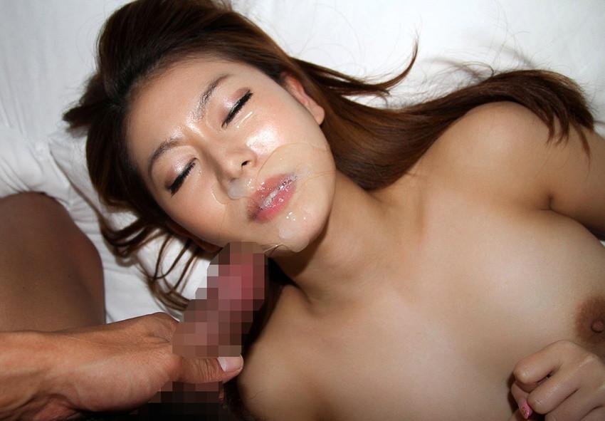 【顔射エロ画像】女の子の顔面に男の欲望の汁をぶっかけたったwwwww 11