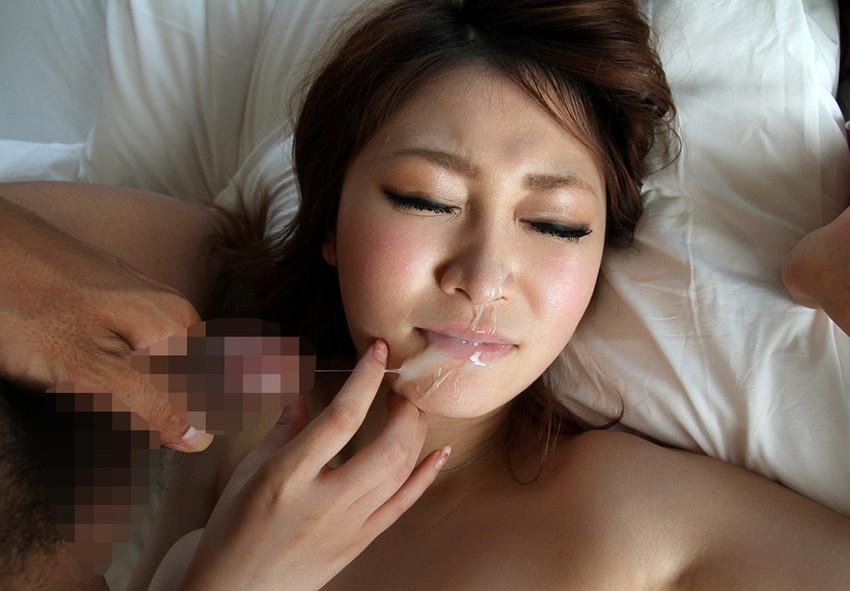 【顔射エロ画像】女の子の顔面に男の欲望の汁をぶっかけたったwwwww 40