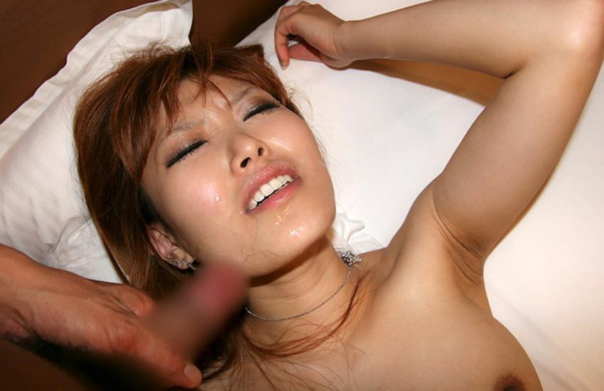 【顔射エロ画像】女の子の顔面に男の欲望の汁をぶっかけたったwwwww 60